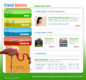 Free Vacation, Travel Website Template