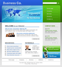 Free Business, General, Basic Website Template