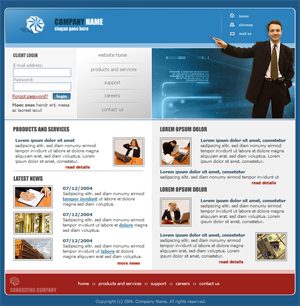 general basic free website template