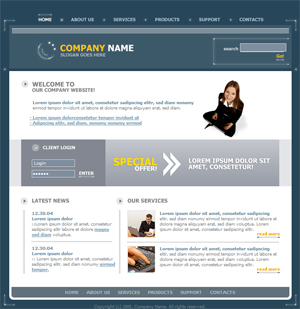 Business, General, Basic, Free Website Template