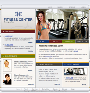 Personal Trainer, Fitness, Free Website Template