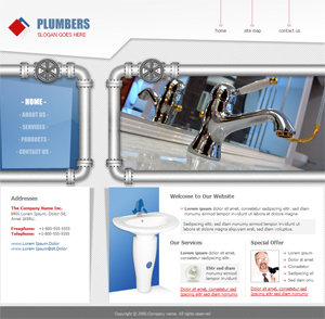 Plumbing, Bathroom, Free Website Template