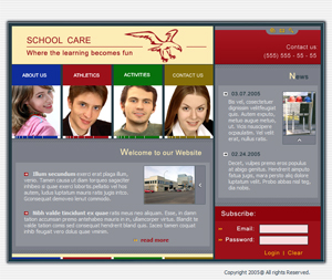School, Tutor, Free Website Template