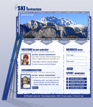 Ski, Sports, Winter Sports, Free Website Template