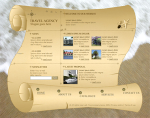Travel, Vacation, Free Website Template