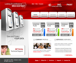 Web Hosting, Free Website Template