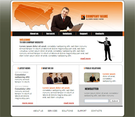 free business general basic free website template