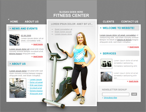 Free Sports, Gym, Training Free Website Template