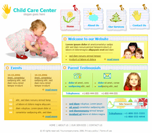 free school nursery daycare website template - Free Website Templates