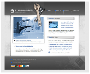 Free Plumbing, Bathroom Website Template